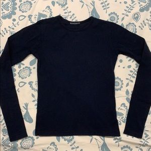 Rare Navy Blue Brandy Melville Long-Sleeved Tee